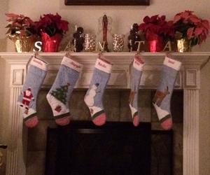 christmas, presents, and stockings image