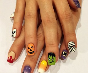 Halloween, nails, and cute image