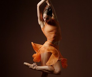 dance, ballet, and orange image