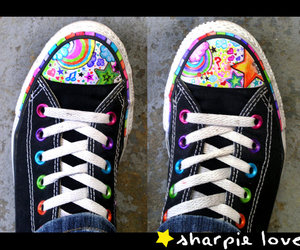 converse, Sharpie, and shoes image