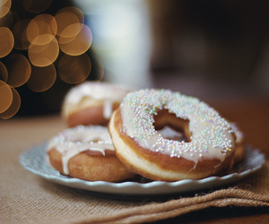 food, donuts, and sweet image