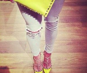 fashion, Valentino, and yellow image