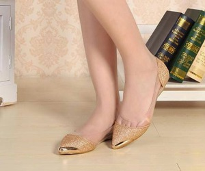 new shoes, flats shoes, and stylish flat shoes image