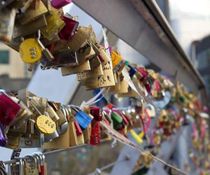 bridge, locks, and melbourne image