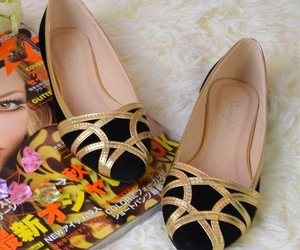 flats for western girls., pump shoes, and pump flat shoes image