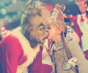 christmas, grinch, and kiss image