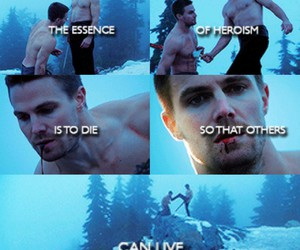 arrow, oliver queen, and death image