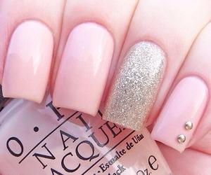 nails, pink, and nail art image