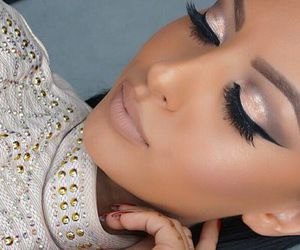 brown, glam, and make up image