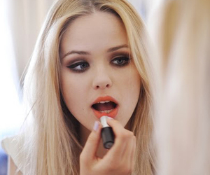girl, blonde, and lipstick image