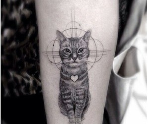 tattoo, cat, and heart image