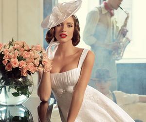 beautiful, bridal, and vintage image