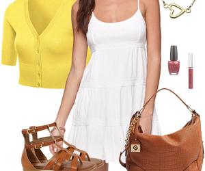 cardigan, summer, and dress image