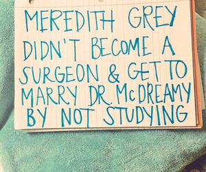 study, grey's anatomy, and motivation image