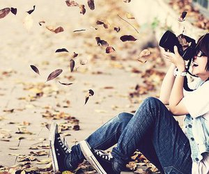 photography, autumn, and camera image