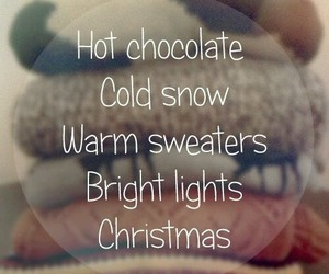 christmas, hot chocolate, and warm sweaters image
