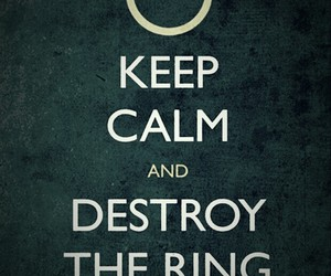 lord of the rings and keep calm image