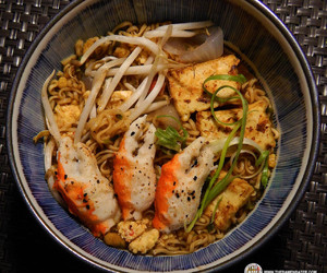 crab, egg, and instant noodles image