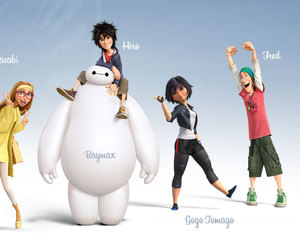 baymax, hiro, and wasabi image