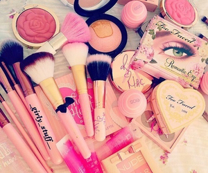 Brushes, chic, and cosmetics image