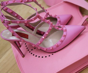 shoes, pink, and Valentino image