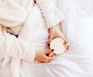coffee, girl, and white image