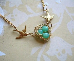 bird, necklace, and nest image