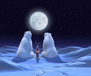 snow, bear, and coca cola image