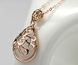 Water Drop, rose gold, and teardrop pendant image
