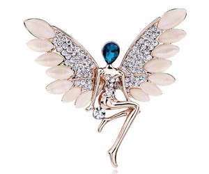 rose gold, angel brooch, and flying angel brooch image