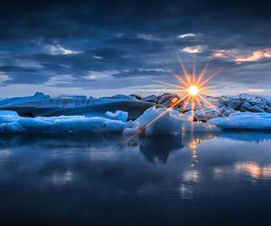 ice, photography, and sunset image