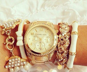 watch, gold, and accessories image