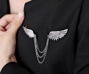 wing brooch, chain brooch, and collar pin brooch image