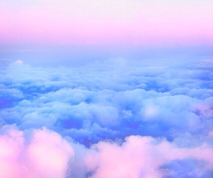 sky, clouds, and pink image
