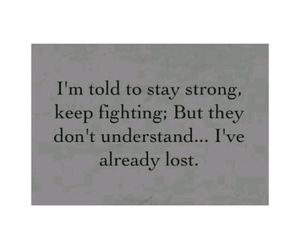 lost and stay strong image
