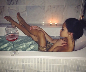 bathtub, candle, and candles image