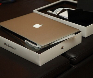 macbook, apple, and technology image