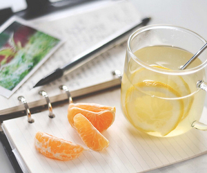 lemon, tea, and orange image