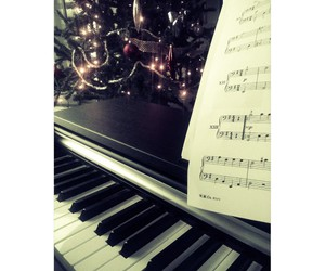 christmas, keyboard, and music image