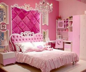 pink, room, and princess image