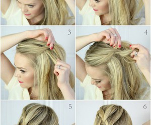 blonde, girl, and braid image