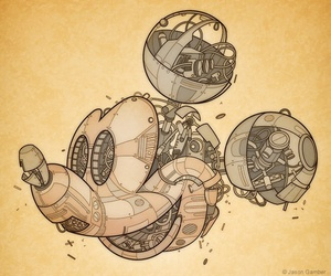 draw, steampunk, and disney image