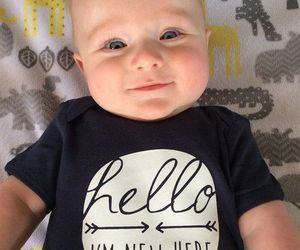 baby, eyes, and black image