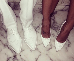 white, couple, and shoes image