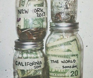 money, travel, and california image
