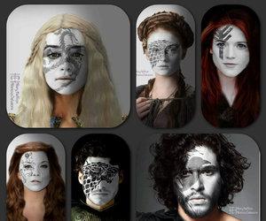 game of thrones, jon snow, and daenerys image