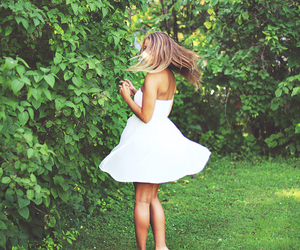 dress, girl, and hair image