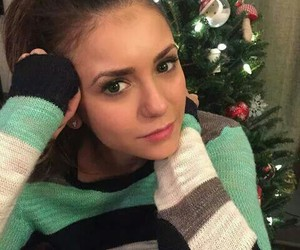 Nina Dobrev, the vampire diaries, and christmas image
