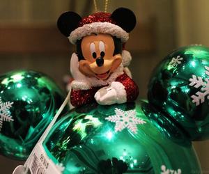 christmas and mickey mouse image
