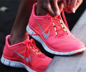 nike, pink, and run image